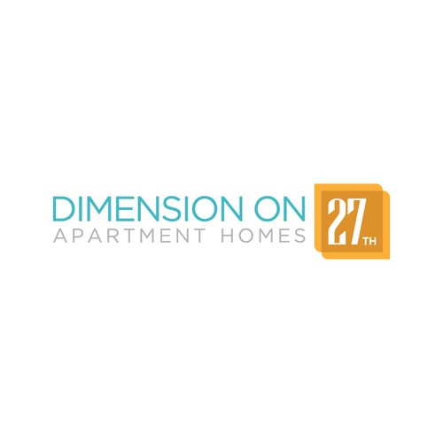 Dimension on 27th apartment homes needs a logo for Apartment logo ideas