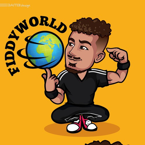 Who Can Create The Best Animated Version Of Me And The Words Fiddyworld On A Globe Logo Brand Identity Pack Contest 99designs