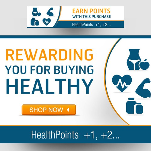 448bdc265d07d3 Rewards Loyalty program banner ad for an online health store ...