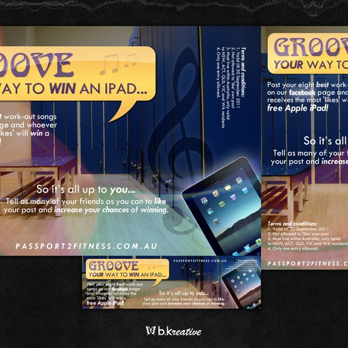 Design a funky banner for our WIN an IPAD comp   Banner ad