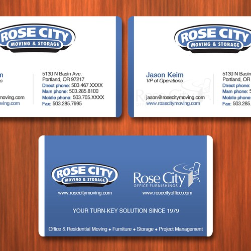 Clean And Professional Business Card Needed For Rose City