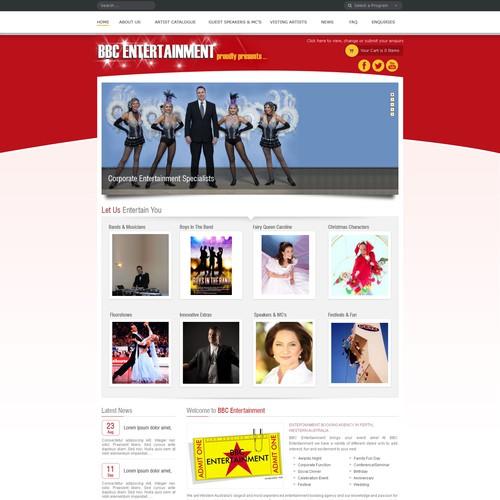 Runner-up design by Websprints