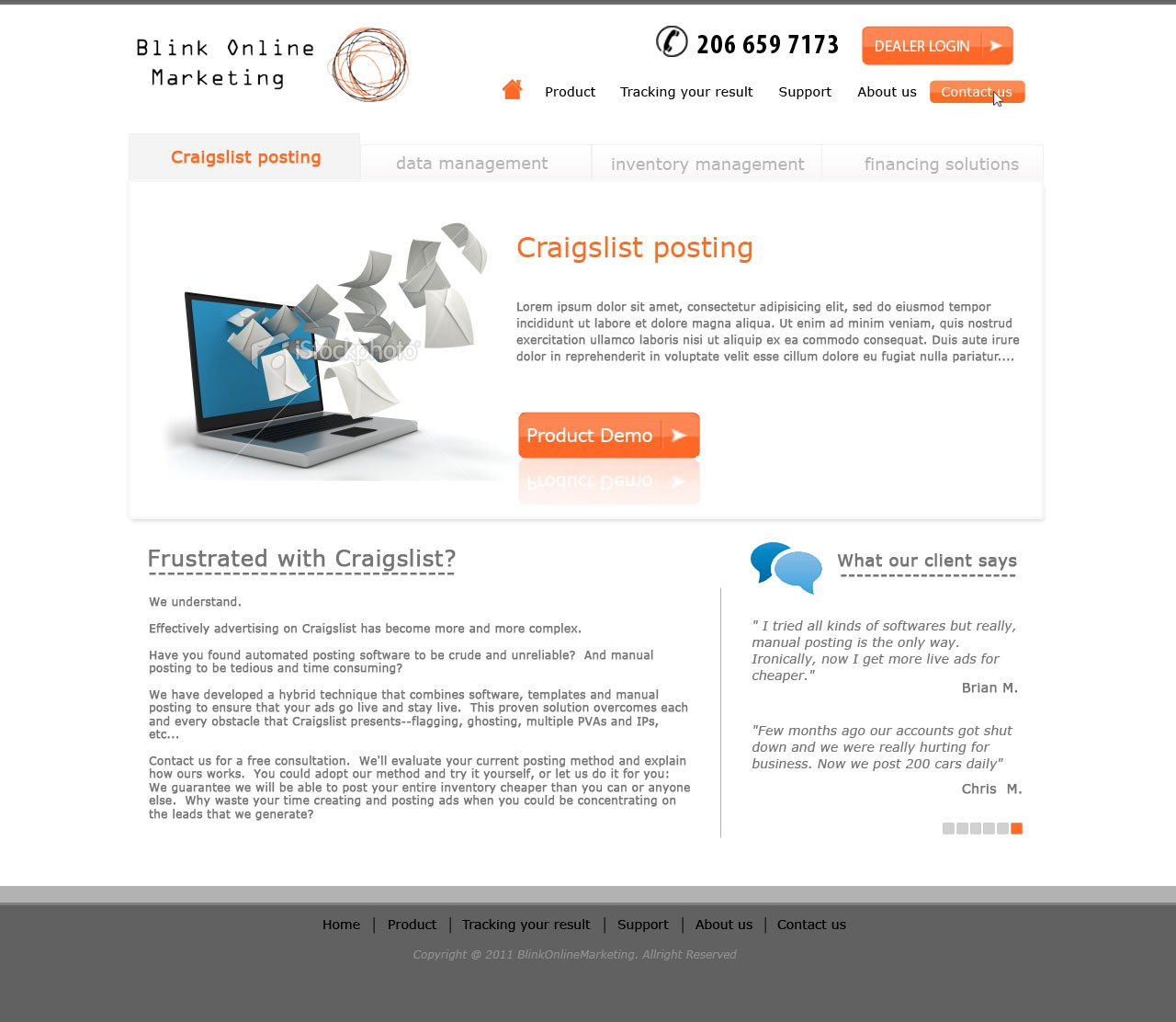 Web Page Design by Alvien