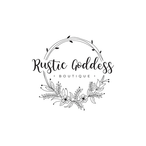 New Trendy Boutique Needs A Rustic And Feminine Logo Logo