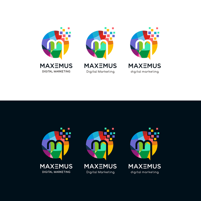 Create a captivating modern digital marketing logo and ...