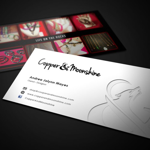 Create a unique business card for Copper & Moonshine ...