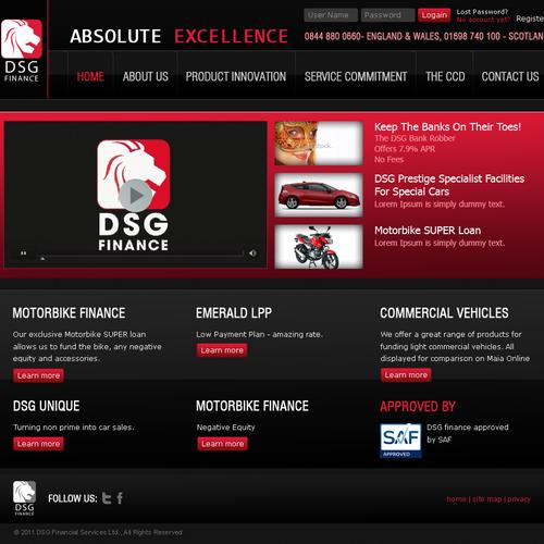 Diseño finalista de web designer shakil