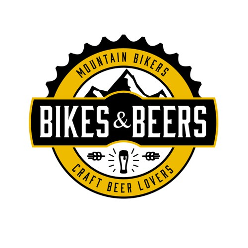 Create a really cool logo for mountain bikers and craft for Craft beer logo design