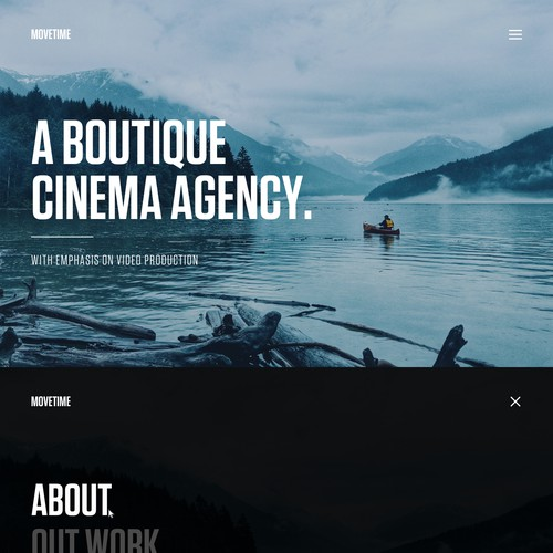 Video Production Company Website // Simplistic Design Design by eVino