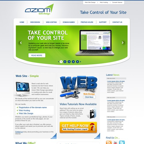 Runner-up design by Web Gateway