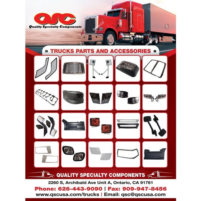 QSC Truck Parts Poster | Poster contest