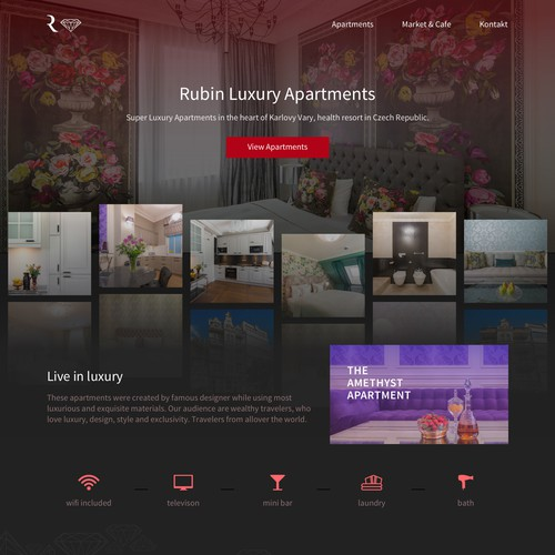 Apartment Design Contest luxury website for super luxury apartments | wordpress theme