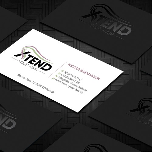 Neue Visitenkarten Für Extensions Shop Business Card Contest