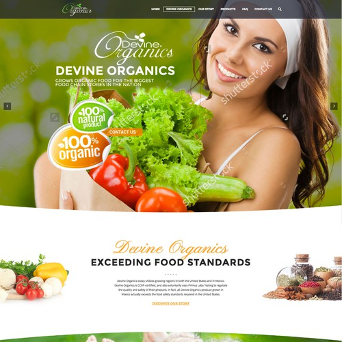 Design One of The Biggest Organic Farm in America Website Design by AnitaH