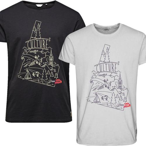 Modern / Edgy - T-Shirt Design for Art School Diseño de gitanapolisgroup