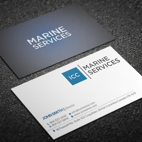 Icc marine business cards business card contest runner up design by designv colourmoves