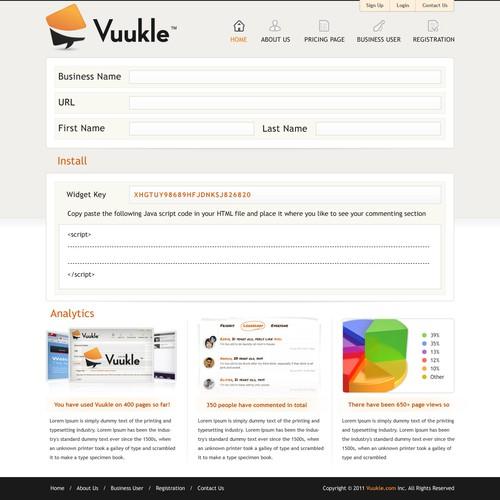 Diseño finalista de webplanet