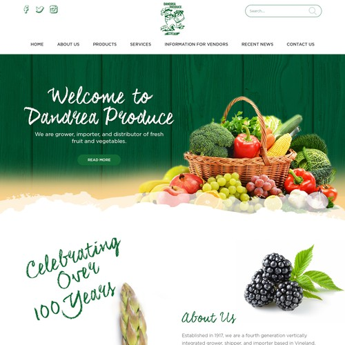 101 year old produce company needs a website to go another 100 Design por e2infinity