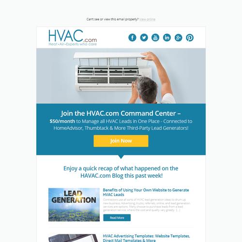 Design HVAC Email Template MailChimp Super Simple Quick - Photo contest website template