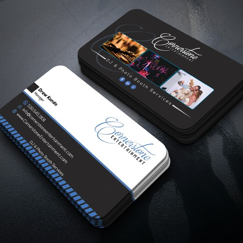 Wedding dj photo booth business needs business cards concurso design finalista por galaxym141 reheart Image collections