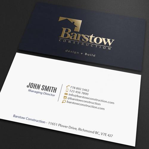 Custom bespoke home builder needs business cards concurso carto design finalista por an designer reheart Images
