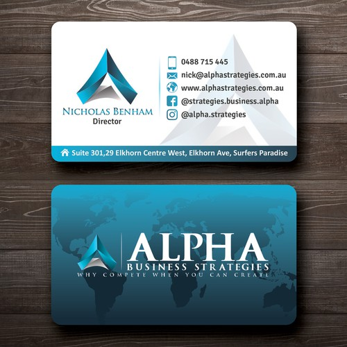 Create a chic design for our business cards business card contest runner up design by veer colourmoves