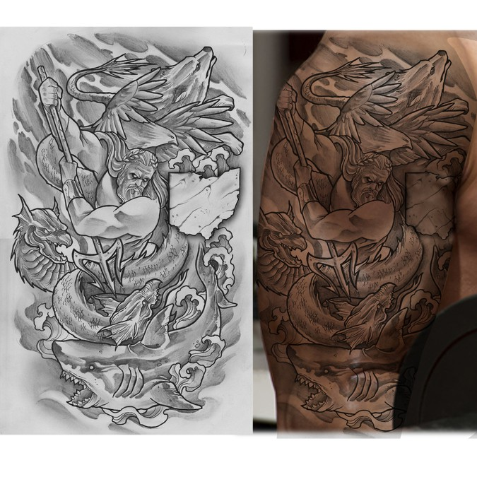 Design An Upper Arm Sleeve Male Tattoo Contest