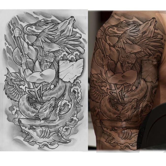 Design An Upper Arm Sleeve Male Tattoo Wettbewerb