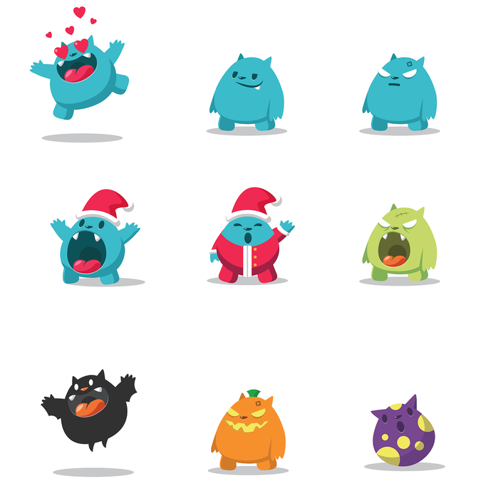 Character Design Shuffle App : Create a mascot for personal sharing app character or