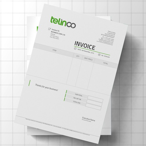 Logo And Invoice Template Stationery Contest - Invoice template with logo