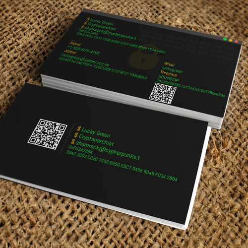 Business Card For Computer Hackersecurity Nerd Business Card Contest