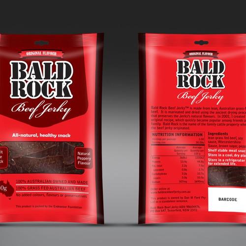 Beef Jerky Packaging/Label Design Design by Rumon79