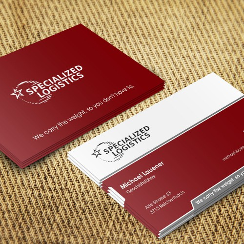 Business card for specialized logistics business card contest runner up design by gak kuliah colourmoves