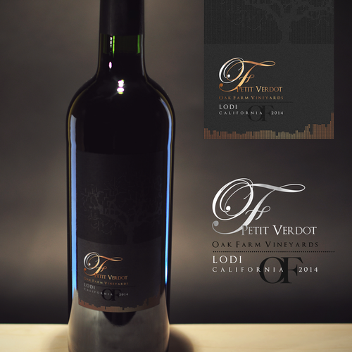 Design a new wine label for our new California red wine... Design by v e r i t a s