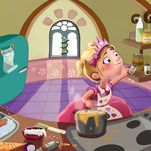 """Princess Soup"" children's book cover design Design by LBarros"