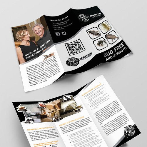 spartan pest control needs a new brochure design. Black Bedroom Furniture Sets. Home Design Ideas