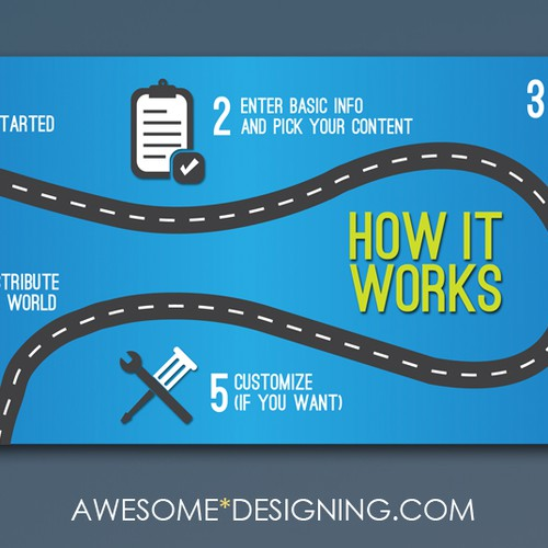 Runner-up design by Awesome Designing