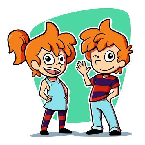 Create Twin Boy And Girl Cartoon Characters Character Or Mascot Contest 99designs