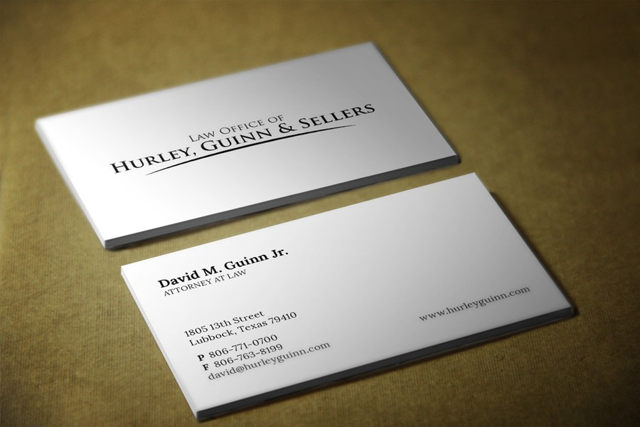 Use our law firm logo to make business cards | Business card contest