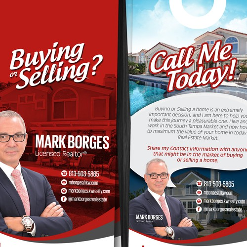 Real Estate Prospecting Door Hanger Postcard Flyer Or