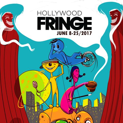Guide Cover for the 2017 Hollywood Fringe Festival Design by Rakocevic Aleksandar