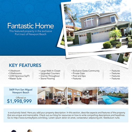 create a real estate flyer