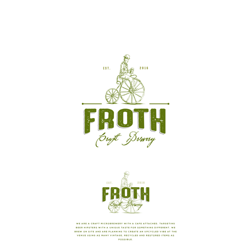 Create a distinctive hipster logo for Froth Craft Brewery Design by M E L O