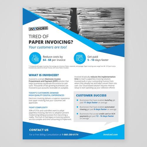 design an attention grabbing flyer for invoiced com postcard