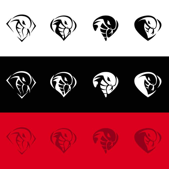 Design a dynamic cobra inspired logo for a clothing premium