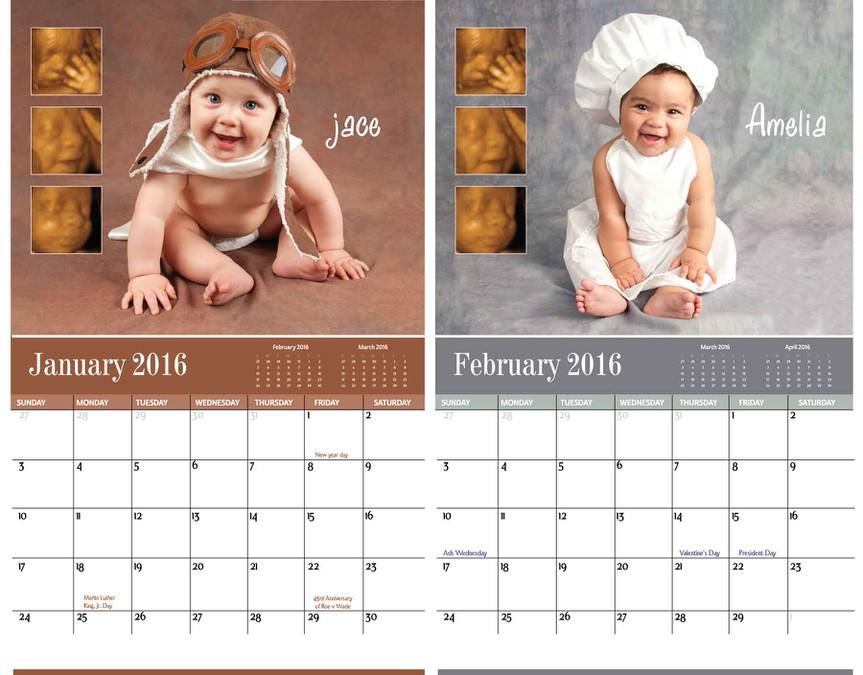 Baby Calendar Design : Calendar design babies and their ultrasounds years