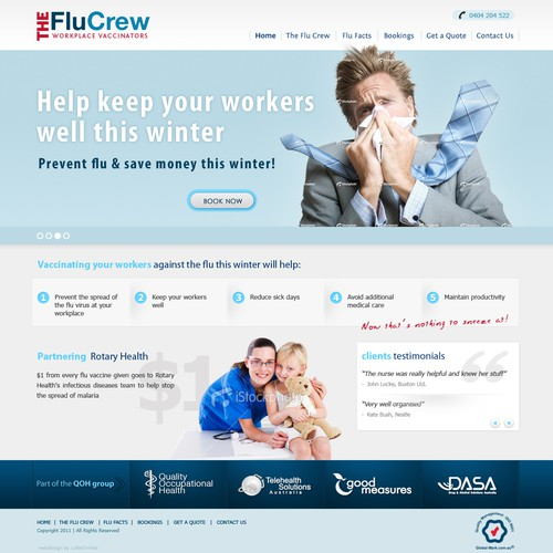 Create The Next Website Design For The Flu Crew Workplace Vaccinators Web Page Design Contest 99designs