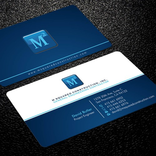 Business card design for underground construction company runner up design by xclusive16 reheart