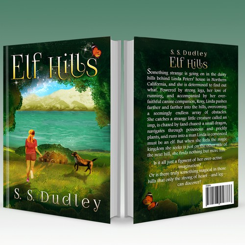 Book cover for children's fantasy novel based in the CA countryside Design by Artrocity