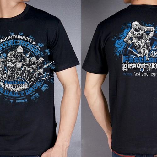 Create A Fast Dynamic Shirt For A Wild Mtb Fourcross Kids